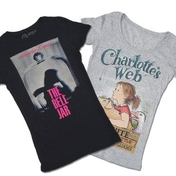 Out Of Print's T-shirts celebrate the world's great stories through fashion. Featuring tees printed with iconic book covers, Out of Print's goal is to spread the message of the joy of reading. And for each shirt you buy, one book is donated to a community in need through their partner, Books for Africa.
