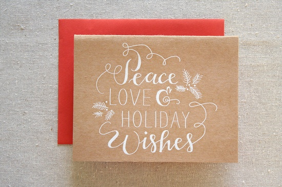 Holiday Wishes Engraved Card by Parrott Design Studio