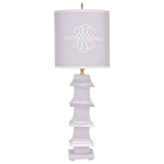 Worlds Away Tole Lavender & Cream Table Lamp. #laylagrayce #lamp #worldsaway