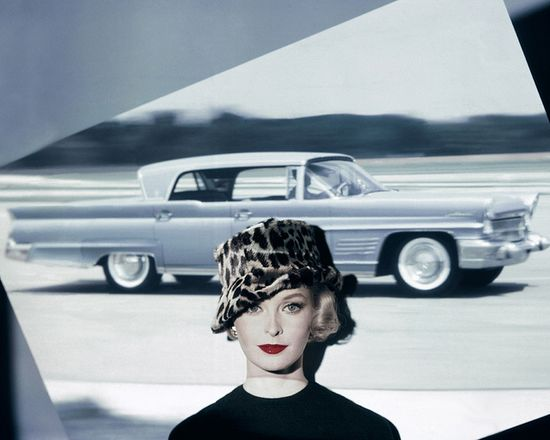 So, so marvelously chic. #1950s #hat #car #fashion #model #vintage #leopard