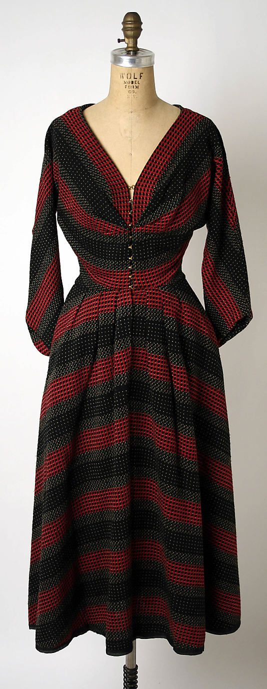 Dress - Claire McCardell 1940's - Hard to believe this is wool.