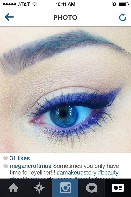 Purple Liner Eye Makeup