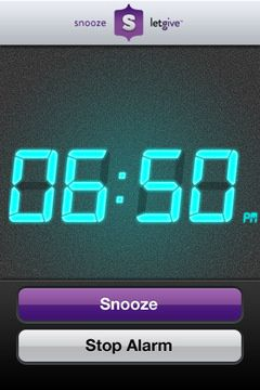 Snooze App for iPhone donates to charity every time you hit the snooze button!