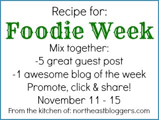 It's Foodie Week on the Northeast Bloggers Network!  #food #cooking #recipes