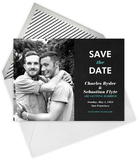 #same-sex wedding #stationery by @Marilyn Rose Post! #gay #wedding #savethedate  This in purples and golds