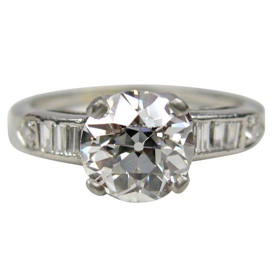 European Platinum Diamond Ring