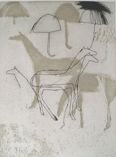 Waiting by Marise Maas - etching