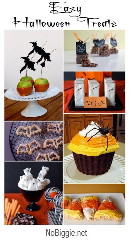 Halloween Treat Ideas via www.NoBiggie.net #Halloween
