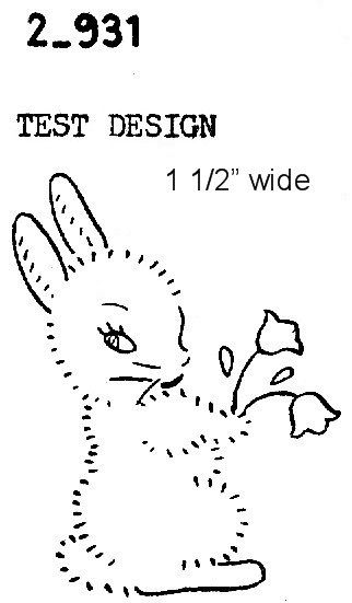 Bunny vintage embroidery pattern