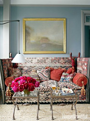 Alexander Doherty Apartment Design - Farrow and Ball Paint Colors - House Beautiful - December January 2013