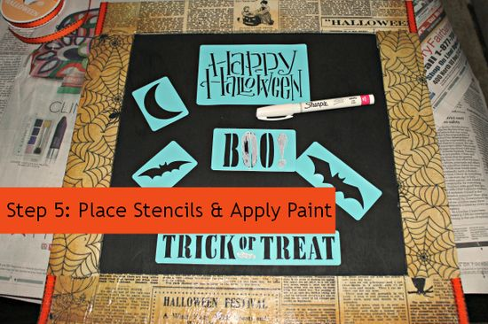 Do It Yourself Mod Podge Halloween Door Hanger #DIY #HalloweenMP