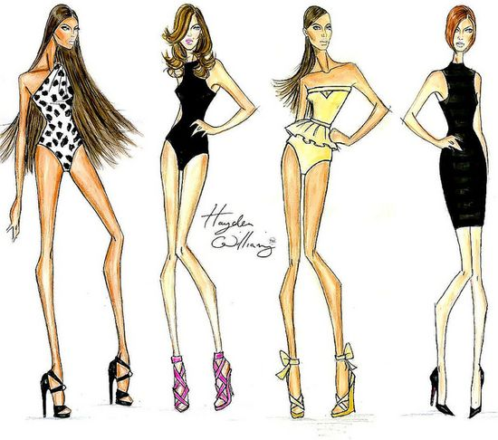 90's Supermodels by Hayden Williams: Naomi, Cindy, Christy & Linda by Fashion_Luva, via Flickr