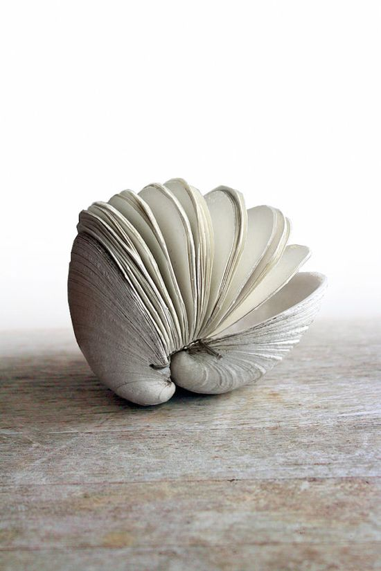 Offering No 65  Handstitched Clamshell Book Sculpture by odelae, $65.00