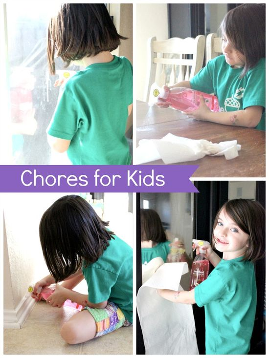 list of chores preschoolers and kindergartners can do around the house!