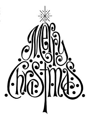 Merry Christmas Tree Printable