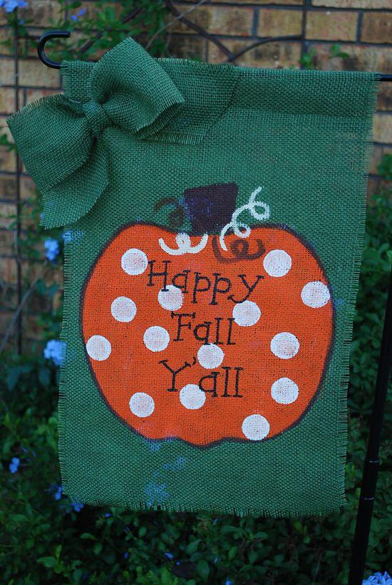 Fall Thanksgiving Decoration Green Burlap by annieslittlehouse, $18.00