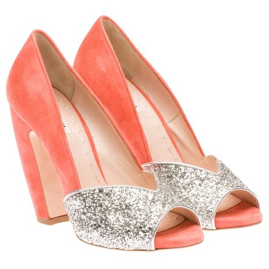 #miu miu #glitter and #coral #shoes