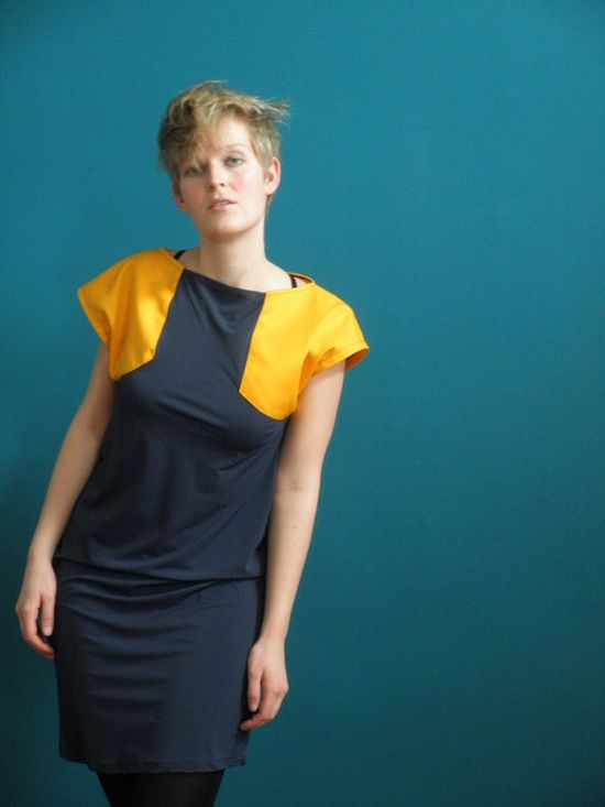 Love this colorblock dress by bilot, $90,00