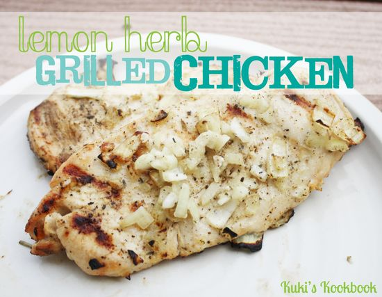 Lemon Herb Grilled Chicken on MyRecipeMagic.com