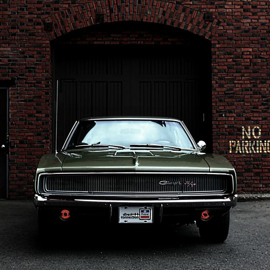 Green 1968 Dodge Charger R/T