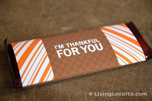 Free printables Thanksgiving candy bar wrappers