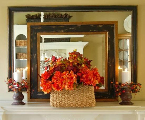 Before and after mirror decoration for the dining room - Home Decorating Trends