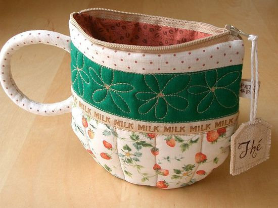 DIY Coffee Cup travel pouch