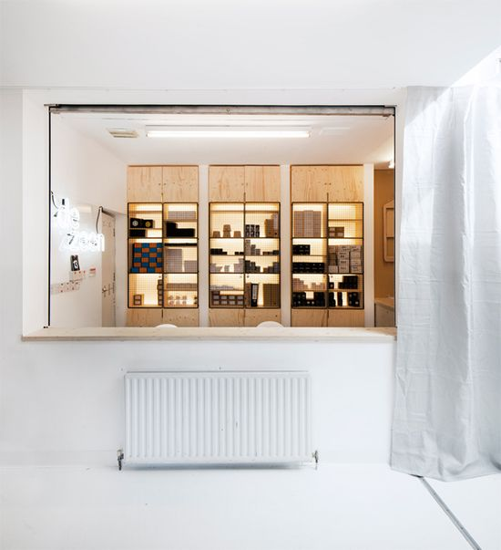 Dezeen watch store office by POST OFFICE, London