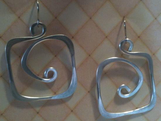 wire earrings...