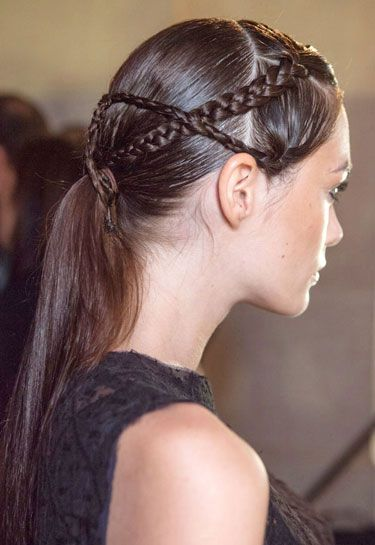 Making The Braid: a New take on Braids for Spring 2013. PLUS the other Spring trend? The low Pony