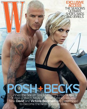 David and Victoria Beckham, August 2007 cover. Photo: Steven Klein.