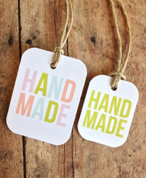Handmade tags bold type gift tags packaging by PrintSmitten