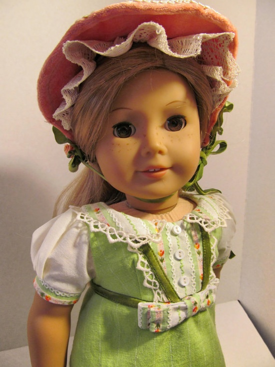 1812 Regency Dress  Bonnet   American Girl Doll by fashioned4you,