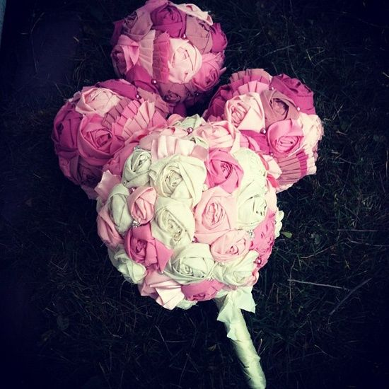 handmade fabric flower bridal