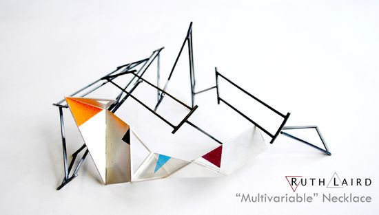 "Ruth Laird - ""Multivariable"" Hinged Necklace"