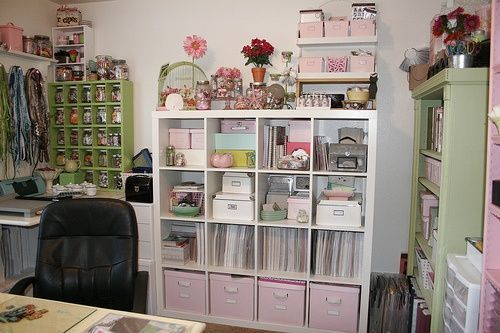 """Desk Layout ideas: Paper storage using cube, 3/8"""" square wooded boards and foam core for the"""