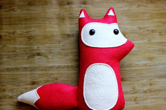 Handmade red fox stuffed animal, Liam - Made to order. $30,00, via Etsy.