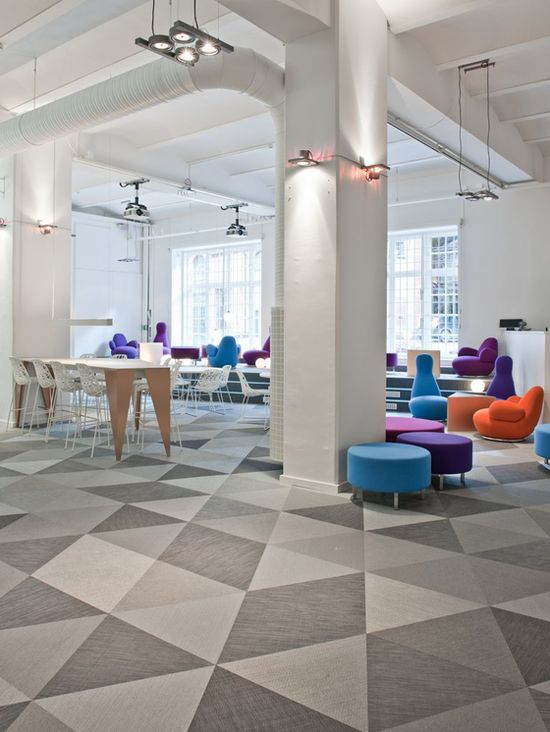 """SKYPE Stockholm offices ~ We need carpeting this in our offices to """"jazz"""" it up!"""