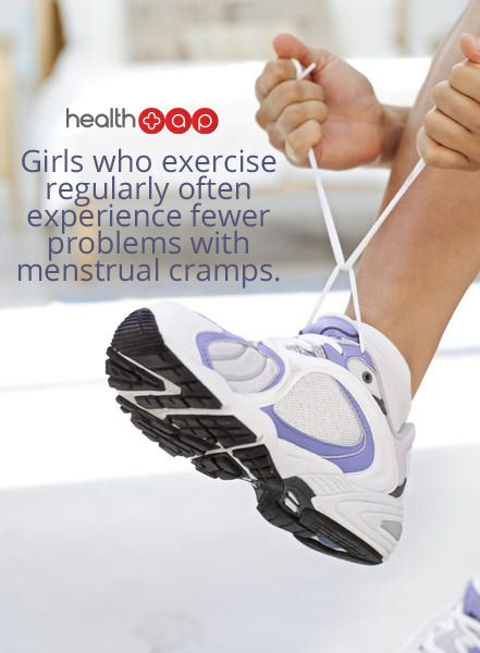 Try exercising regularly to reduce menstrual cramps!