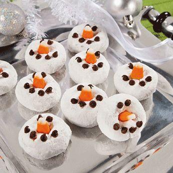 Snowman Mini Donuts