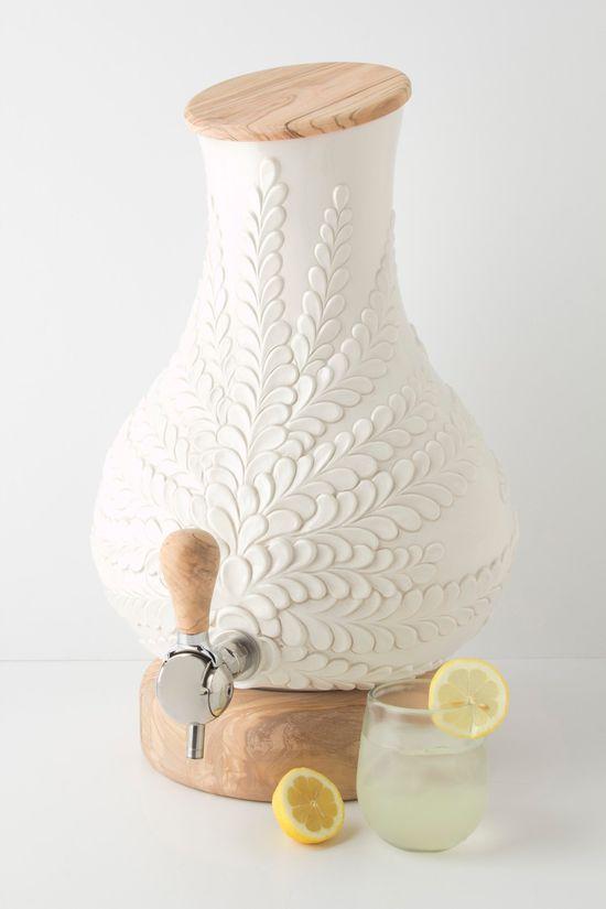 Verdant Drink Dispenser / Anthropologie.com #gifts
