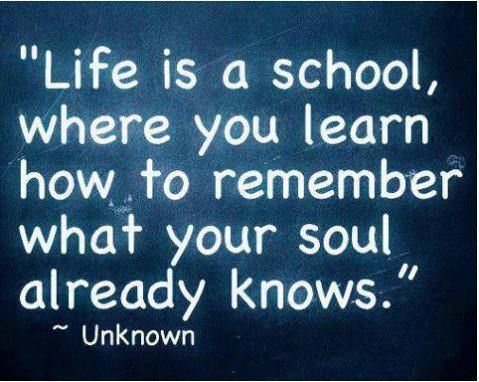 """Your soul already knows..."""