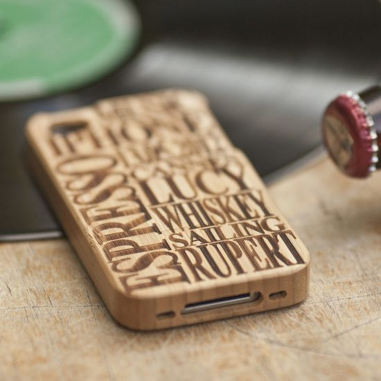 Personalised Wooden Iphone Cover, by Sophia Victoria Joy on Folksy, £39.00