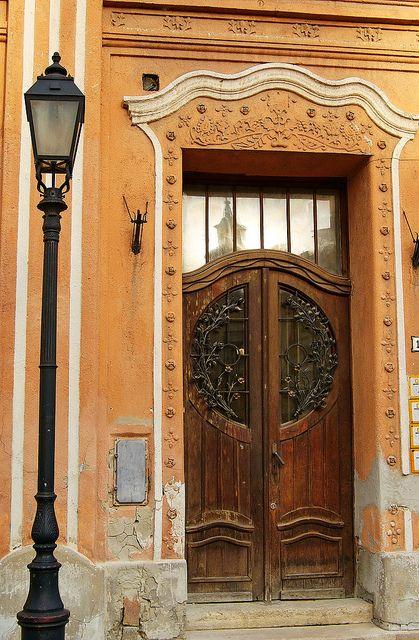 Door of Art Nouveau Peacock House