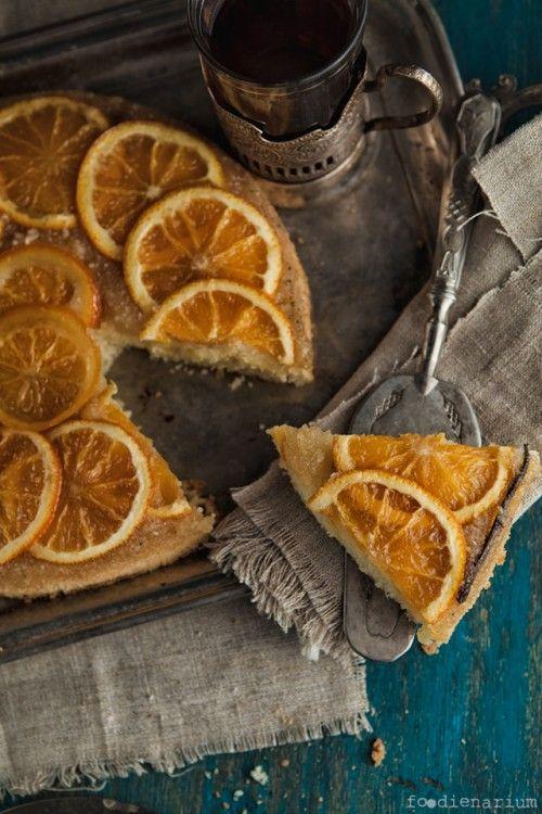 ... orange and vanilla cake ...