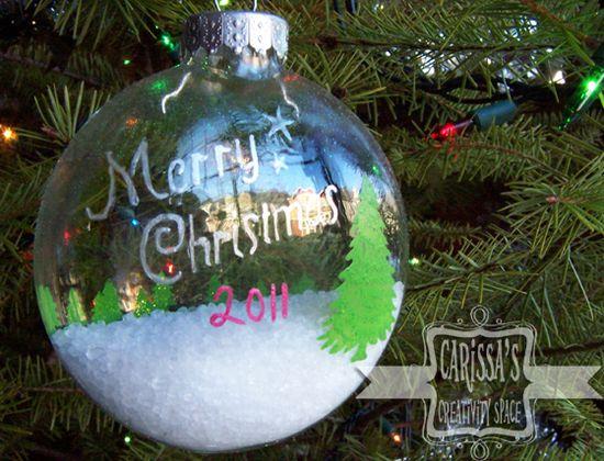 Snowy Wonderland Christmas Ornament tutorial
