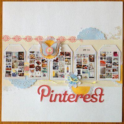 #papercraft #scrapbook #layout Pinterest