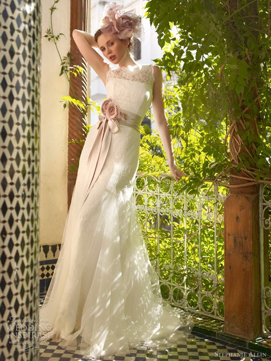 stephanie allin bridal 2013 honour sleeveless wedding dress illusion straps