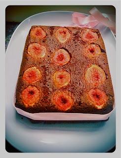Fig and chocolate cake
