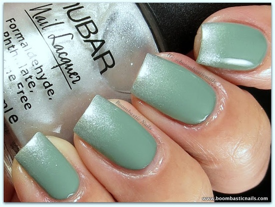 YSL Jade Imperial 34 LE - 2 coats & Nubar Platinum (sponged on tips)